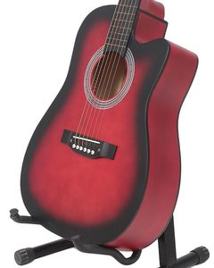 Bell 39- Matte Finish Acoustic Guitar with Free Guitar Bag - Red Burst
