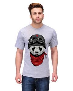 Yellow - Cotton Boxer Panda Printed T-Shirt For Men