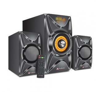 Audionic Vision 15 - 2.1 Channel Speaker System With Bluetooth  FM Radio  USB/microSD Card Support & Wireless Remote