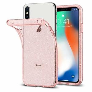 Spigen Apple iPhone X Liquid Crystal Glitter Case - Rose Quartz (AMT-4951)