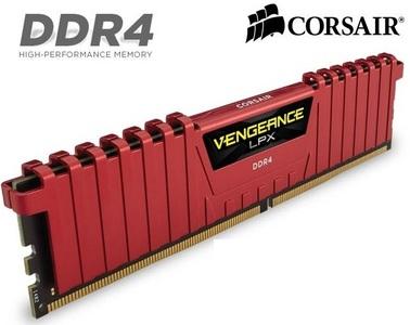 Corsair Vengeance 8GB DDR-4 1X8GB 2400MHz with Red Heat sink (CMK8GX4M1A2400C16R)