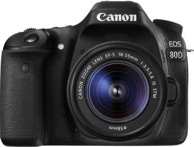 Canon EOS 80D Digital SLR Camera 18-55mm Lens (1 Year MBM Warranty)