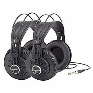 Samson SR850 Twin Studio Headphones (Pack of 2)