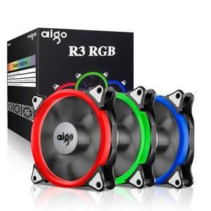 Aigo  R3 3-Pack RGB LED 120mm Adjustable Color Case Radiator Fan