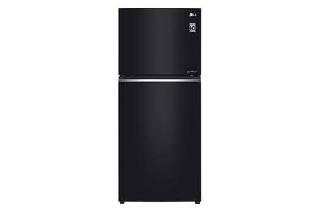LG GN-C552SGCN No Frost Glass Door Refrigerator (Black)
