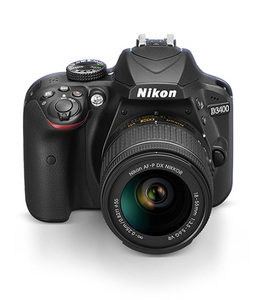 Nikon D3400 24.2 MP DX 18-55mm VR (1 Year Camtronix Warranty)