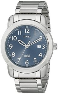 Timex T2P132 Highland Street Silver-Tone Stainless Steel Expansion Band Watch