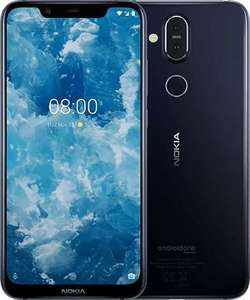 Nokia 8.1 Dual Sim (4G  4GB RAM  64GB ROM  Blue) 1 Year Official Warranty