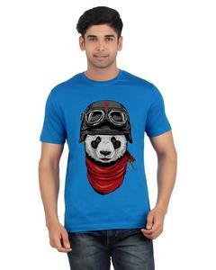 Red Cotton Boxer Panda Printed T-Shirt For Men