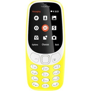 Nokia 3310 3G Dual Sim Yellow With 1 Year Official Warranty