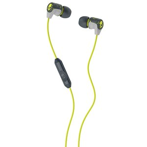 Skullcandy Riff S2RFGY-386 In-Ear Earphones with Mic (Hot Lime)