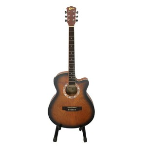 Swift Horse Italian 40 4 Band With Tuner Semi Acoustic Guitar (Dark Natural)