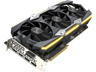ZOTAC GeForce GTX 1080 Ti AMP Extreme Core 11GB GDDR5X 352-bit Gaming Graphics Card VR Ready 16+2 Power Phase Freeze Fan Stop IceStorm Cooling Spectra Lighting ZT-P10810F-10P(3 Months Local Warranty)