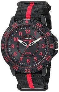 Timex TW4B05500 Expedition Gallatin Black/Red Slip-Thru Strap Watch