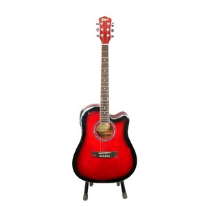 Swift Horse Italian 41 Jumbo 4 Band With Tuner Semi Acoustic Guitar (Red Burst)