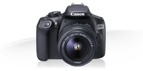 Canon EOS 1300D 18MP Digital SLR Camera Black with 18-55mm (MBM Warranty)