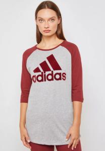 Adidas SID T-Shirt (Grey - Burgundy)