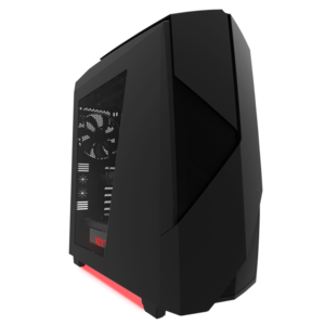 NZXT Noctis 450 Black/Red LED Mid Tower Casing - CA-N450W-M1