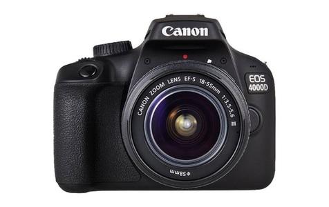 Canon EOS 4000D DSLR Camera Black