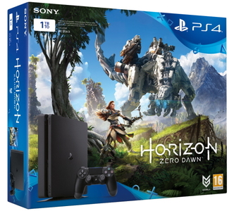 Sony PlayStation 4 1TB Horizon Zero Dawn Bundle  Black
