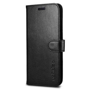 Samsung Galaxy S7 Edge Spigen Original Wallet S Flip Cover Case  – Black