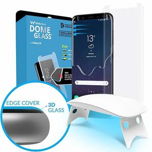 Galaxy S8 Whitestone Dome Glass with UV Light & Easy Install Kit