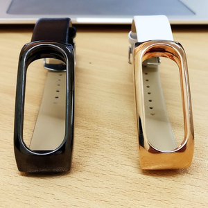 Xiaomi Mi Band 2 Metal with Leather Replacement Bracelet