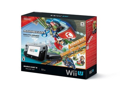 Nintendo Wii U 32GB Console Deluxe Set With Mario Kart 8 - Black