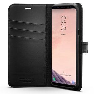 Samsung Galaxy S8 Spigen Wallet S Flip Cover Case – Matte Black