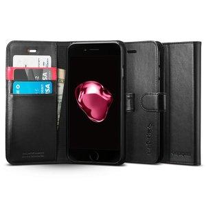 Apple iPhone 7 Spigen Original Wallet S Flip Cover Case  – Black