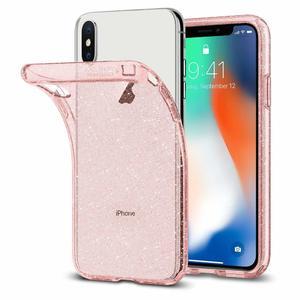Apple iPhone X Spigen Liquid Crystal Glitter Case – Rose Quartz