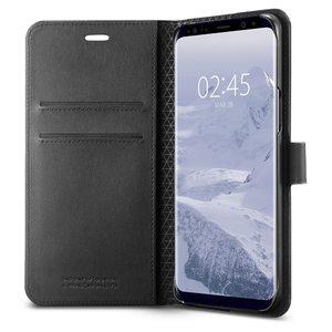 Samsung Galaxy S9 Plus Spigen Original Wallet S Flip Cover Case  – Black