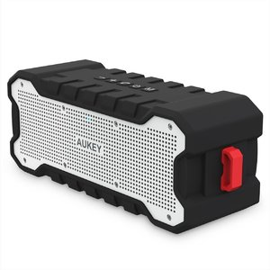 AUKEY Bluetooth Speaker with 30-Hour Playtime  Enhanced Bass  Water Resistant Wireless Speaker for iPhone  iPad  Samsung - SK-M12