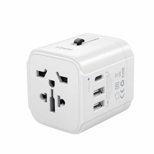 Aukey Universal Travel Adapter With USB-C and USB-A Ports – PA-TA01 – White