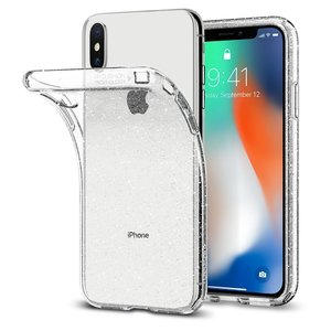 Apple iPhone X Spigen Liquid Crystal Glitter Case – Crystal Quartz