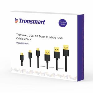 Tronsmart Micro USB Cable Pack - 5 Cable Pack MUPP6 - Black (1ft x 1 3.3ft x 3 6ft x 1)