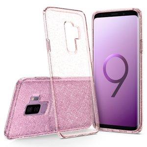Galaxy S9 Plus Spigen Liquid Crystal Glitter Case – Rose Quartz