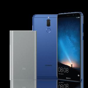 Huawei Mate 10 lite + 10000 mAh Mi Power Bank 2