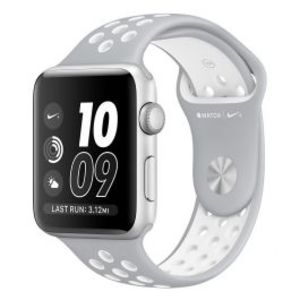 Apple | Watch Nike+ - 42mm Silver Aluminum Case with Flat Silver/White Nike Sport Band