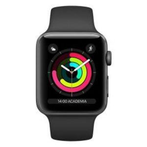 Apple | Watch Series 3 - 42mm Space Gray Aluminum Case with Black Sport Band GPS