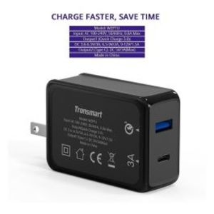 Tronsmart | W2PTU -  Quick Charge 3.0 & Type-C Dual Ports Wall Charger