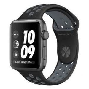 Apple | Watch Nike+ - 42mm Space Gray Aluminum Case with Black/Cool Gray Nike Sport Band