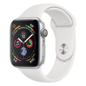 Apple | Watch Series 4 - 40mm Silver Aluminium Case with White Sport Band