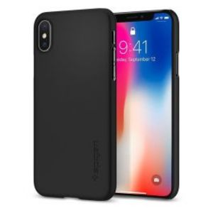 Spigen |iPhone X Case Thin Fit Matte Black 057CS22108