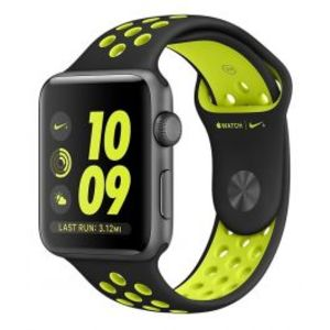 Apple | Watch Nike+ - 42mm Space Gray Aluminum Case with Black/Volt Nike Sport Band
