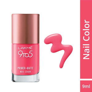 Lakme 9 To 5 Primer + Matte Nails Rosy 9 ...