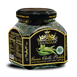 Chatkhaar Green Chilli Pickle in Olive Oil 300gm