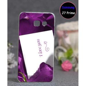 Samsung J7 Prime Love Style 2 Mobile Cover Purple
