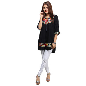 Frock Style Traditional Embroidered Kurti For Wome ...