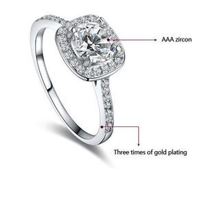 Platinum Mosaic Diamond Ring MDW - Silver